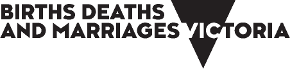 Births Deaths and Marriages Victoria - logo